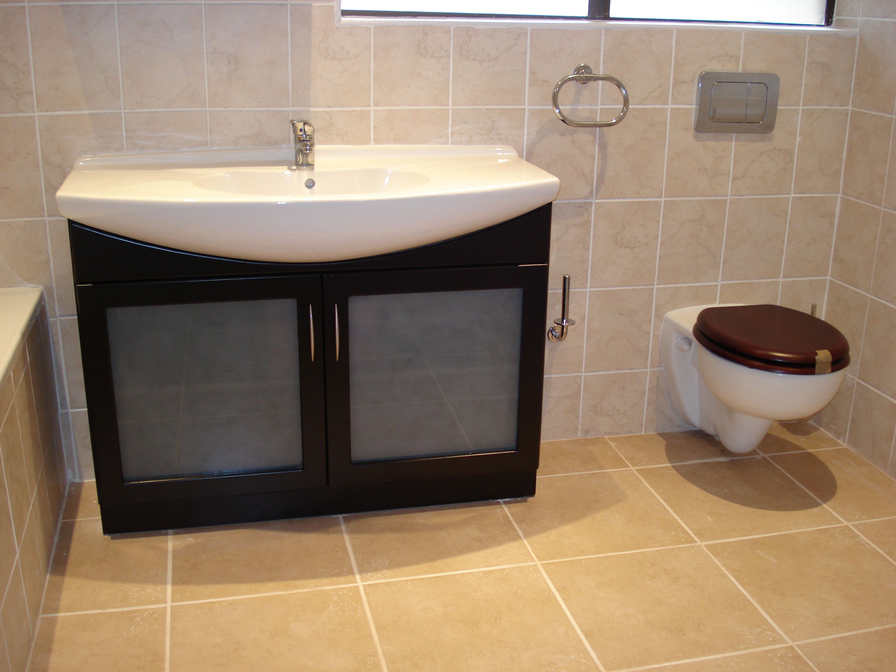 two door bathroom vanity with drawers custom glass insert for bathroom cupboard - Bathroom Cabinets Johannesburg