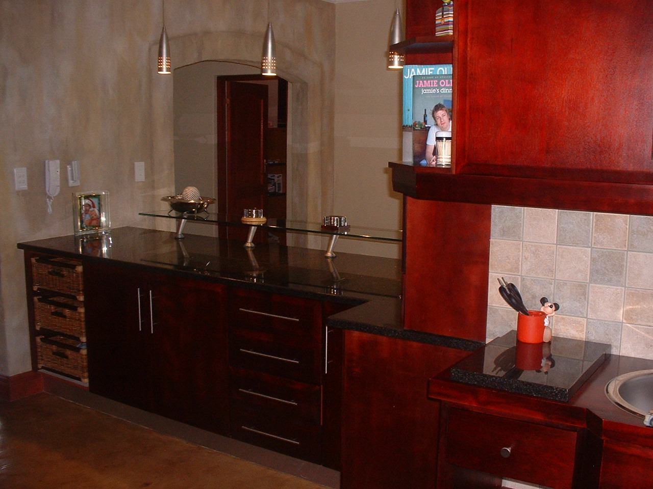 Mahogany cupboards nico 39 s kitchens for Kitchens pretoria