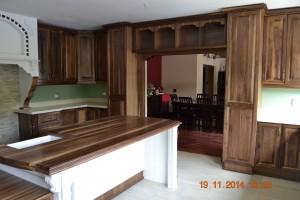 Walnut and duco kitchen