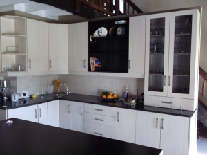Balsa melamine kitchen with wooden top Johannesburg
