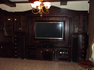 Large Mahogany TV Unit