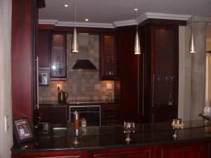 Mahogany kitchen units