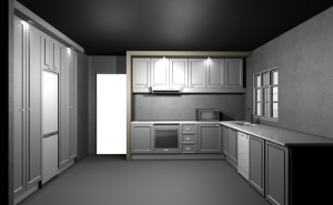 L shape kitchen layout