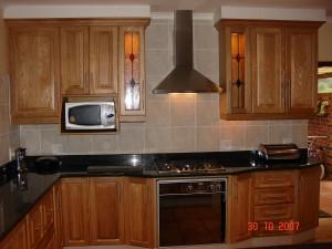 Oakwood kitchen cupboards