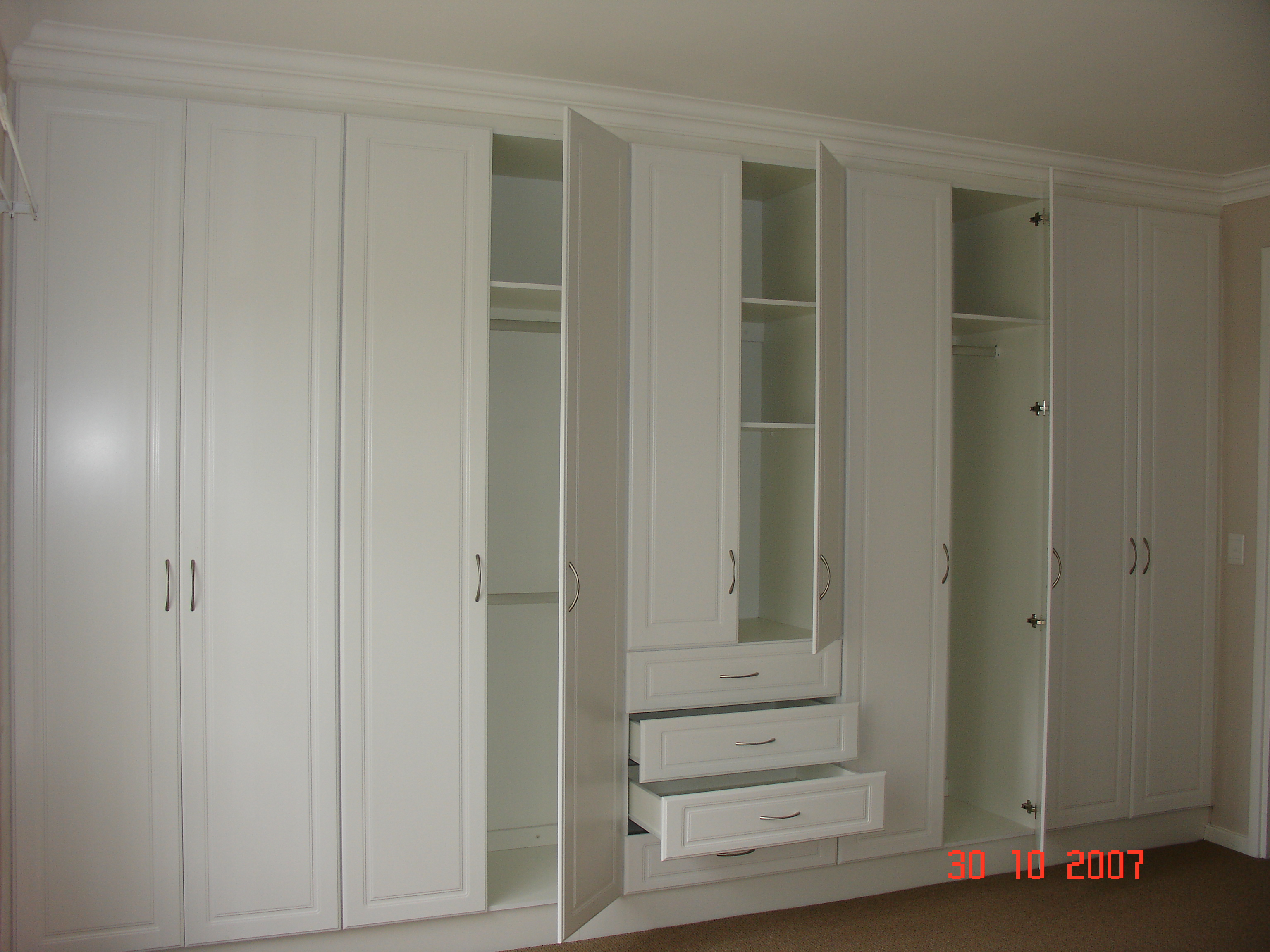 Bedroom With White Furniture Open White Melamine Bic Nico S Kitchens