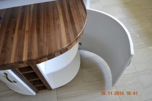 curved kitchen doors