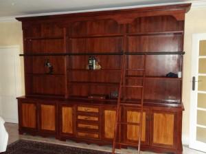 Custom maple library cupboard