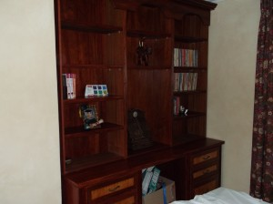 Custom unit with maple stain