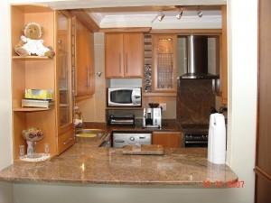 Pink beech wood kitchen