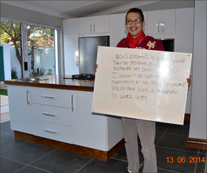 Happy client from Nico's Kitchens