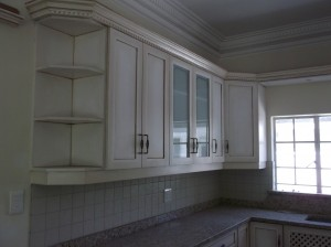 Top cupboards in shabby chic
