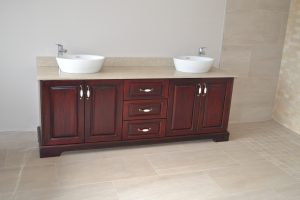 Wooden bathroom unit