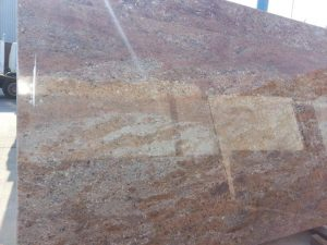 Rosewood granite slab